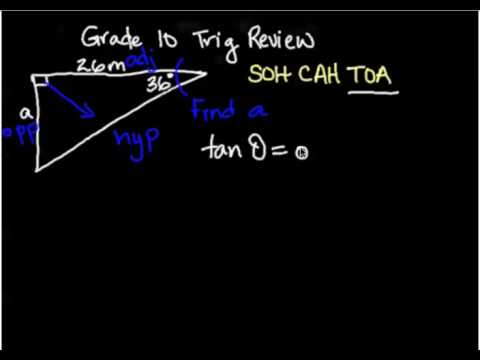 SOH CAH TOA - finding side lengths