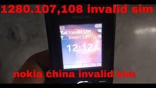 Nokia 107 106 Network Problem 100%OK Update video