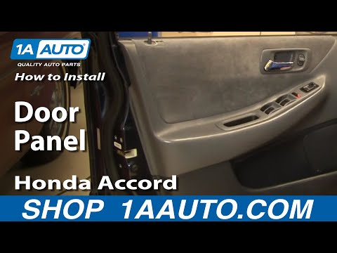 How To Install Remove Door Panel Honda Accord 4dr 98-02 1AAuto.com
