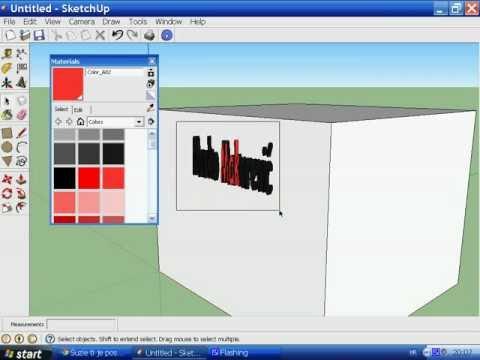 Google SketchUp 8 - 3D Text [Tutorial]