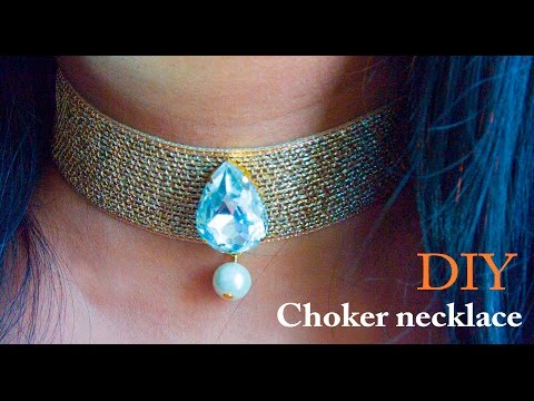 How to make a choker necklace | DIY | Beads art