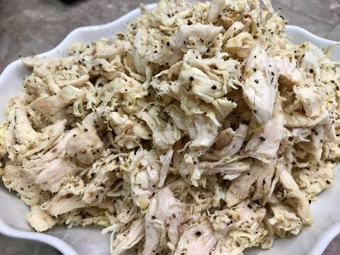How I boil and Shred My Chicken With Raihana's Cuisines