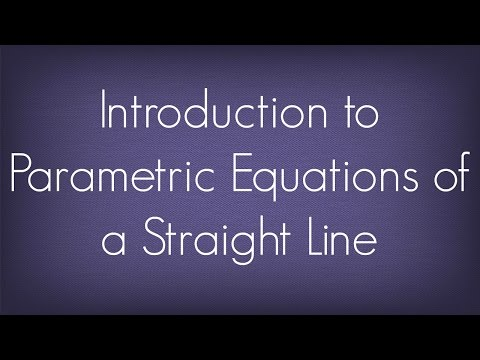 Introduction To Parametric Equations of a Straight Line l Straight Lines l Maths Geometry