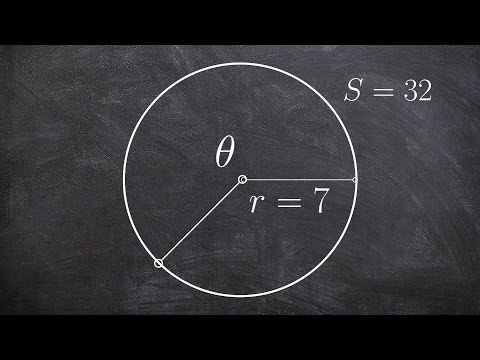 Finding theta given the arc length and radius