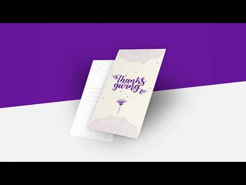 Editable Printable Customizable Thanksgiving Card