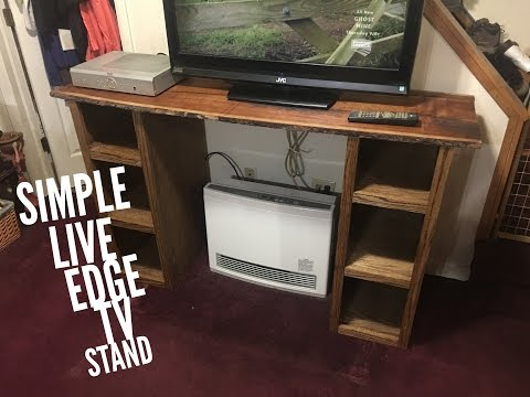 Simple Tv Stand with Live Edge Top