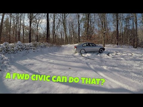 How to drift Front Wheel Drive car in snow