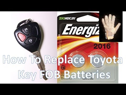 Replacing A Toyota Key FOB Battery