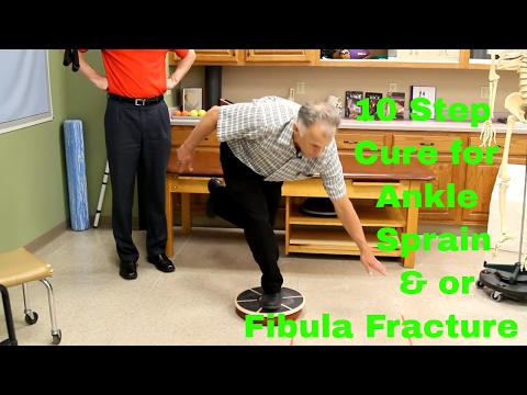 10 Step Cure for Ankle Sprain & or Fibula Fracture. Exercises & Rehab
