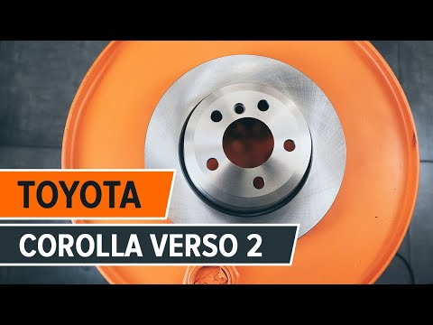 How to change a rear brake discs on TOYOTA COROLLA VERSO 2 TUTORIAL | AUTODOC
