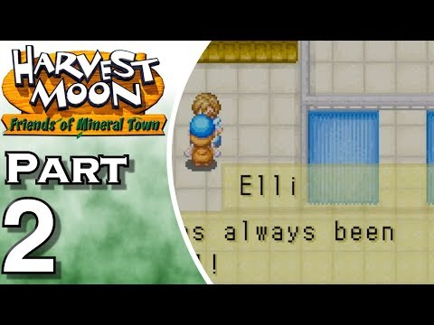 Let's Play Harvest Moon: Friends of Mineral Town (Gameplay + Walkthrough) Part 2 - Greeting People