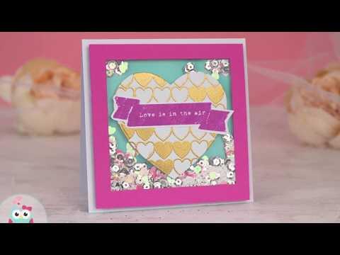 Walentynka Shaker Box / Embossing / Stemplowanie - Cardmaking Tutorial