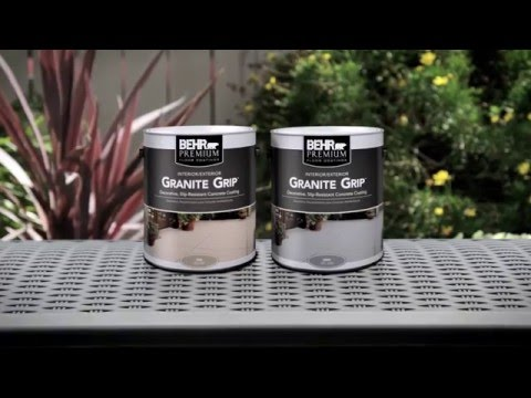 How-To: Apply BEHR PREMIUM® Granite Grip™
