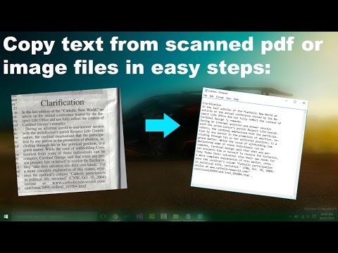 Copy Text From an Image or Scanned pdf files in Easy Steps