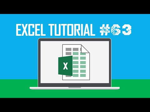 Excel Tutorial #63:  Opening the Group Dialog Box (Alt + Shift + →)
