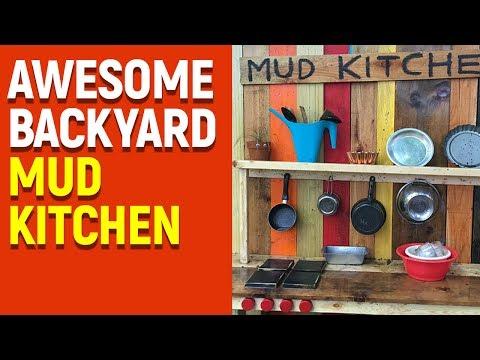 Super Messy Mud Kitchen - Summer of Fun!