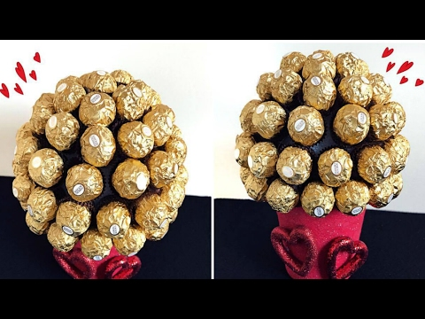DIY Valentines Day! Ferrero Rocher Bouquet!