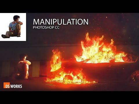 Photoshop Manipulation THE BURNING CAR