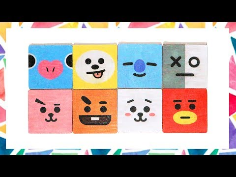 DIY BT21 (PUZZLE STAR) INSPIRED COASTERS!(FREE TEMPLATES)[CREATIVE WEDNESDAY]