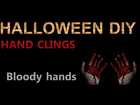 Halloween DIY Hand Clings (Fun and easy )