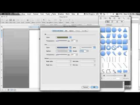 How to Add a Shape and Format it in Word 2008 for Mac