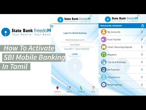 How To Register SBI Mobile Banking [State Bank Freedom App] In Tamil