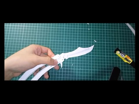 How to make paper Butterfly Knife *SUPER SLOW VERSION* *STRESS TEST*