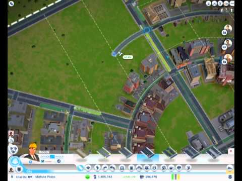 (2of2) SC5 Halby SimCity 5 (2013) 600,000 people 600,000$/month circle city