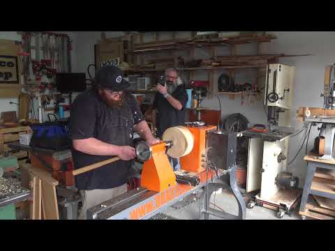 Turning an Indian Rosewood Bowl with Braxton Wirthlin @Desert AZ Makers