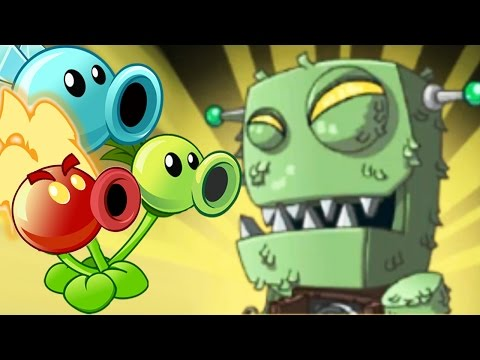 Plants Vs Zombies 2: ALL Peashooter Challenge Heroes Pinata Party!