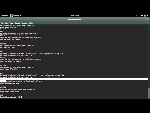Find and replace in Unix Using SED