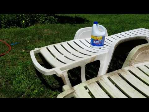 Clean lawn furniture with Clorox Bleach