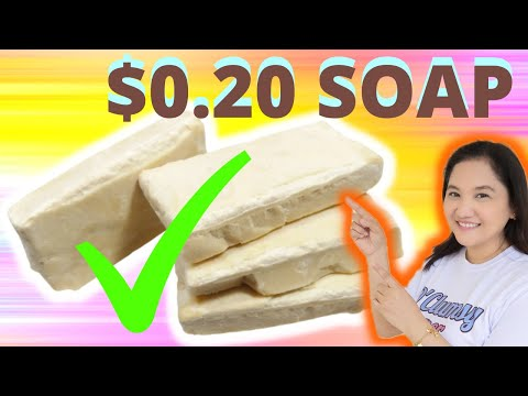 USED OIL SOAP Used/recycled cooking oil soap making how to make cheap $0.20 all purpose soap 106