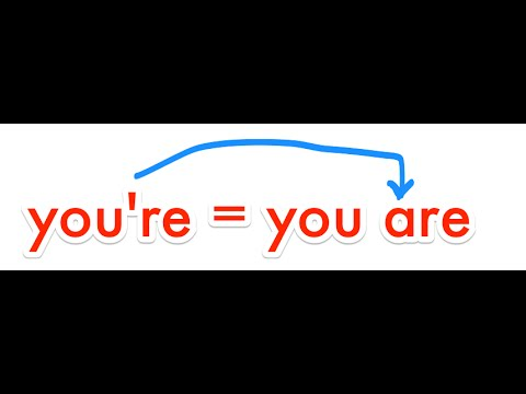 how to spell: your & you're