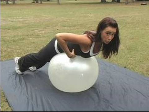 How to Use an Exercise Ball : Working Your Lower Back Using an Exercise Ball
