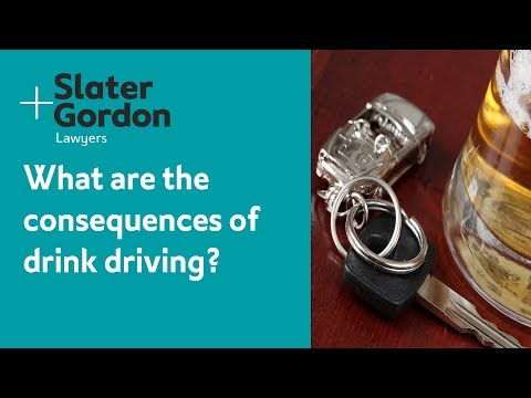 What are the consequences of drink driving?