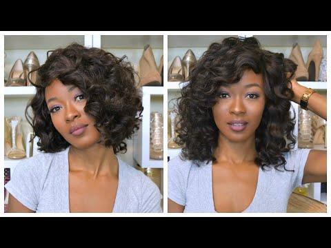 DIY Full Wig With Side Bangs: Curly Long Bob: Be Real Virgin Hair