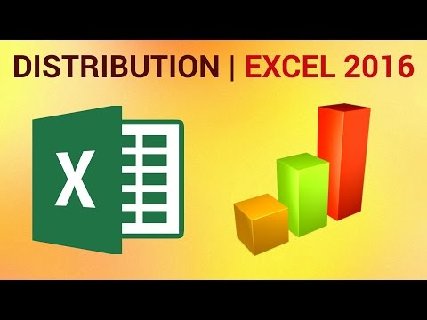 How to Calculate Frequency Distribution in Excel 2016 - Excel Histogram