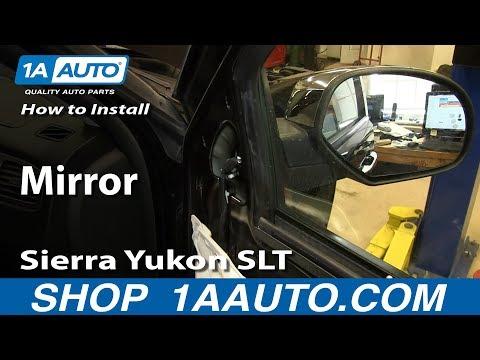 How To Install Replace Broken Mirror 2007-13 Silverado Tahoe LTZ Sierra Yukon SLT Denali