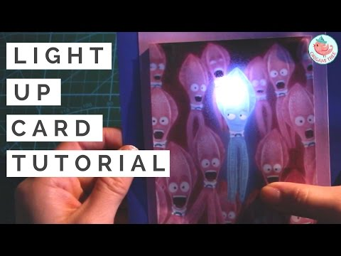 Paper Circuit | Light Up Card Tutorial with Parallel Circuits & LEDs | SING Movie Squid Card
