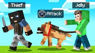 GUARD DOG As A PET In MINECRAFT! (Overpowered)