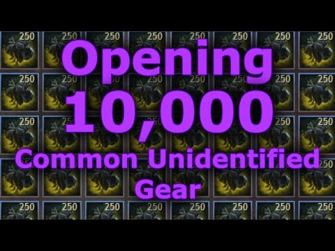 Opening 10,000 Pieces of Common Unidentified Gear  |  Guild Wars 2
