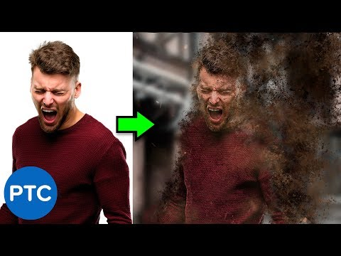 Disintegration Effect - Dispersion Effect - FULLY EXPLAINED Photoshop Tutorial