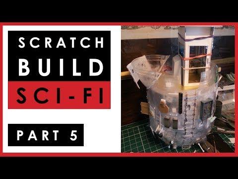 Scratch building my 1/35 scale science fiction ship model - Part 5