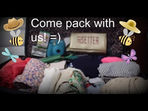 Whats in my suitcase ? Come pack with us