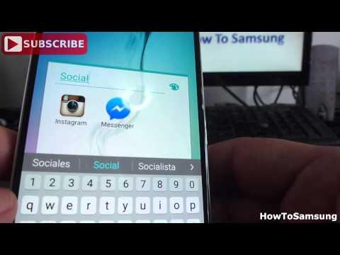 How to create folders on Samsung Galaxy S6 Basic Tutorials
