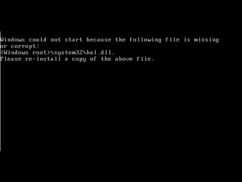 How To Fix Hal.dll Missing Error using Windows XP CD
