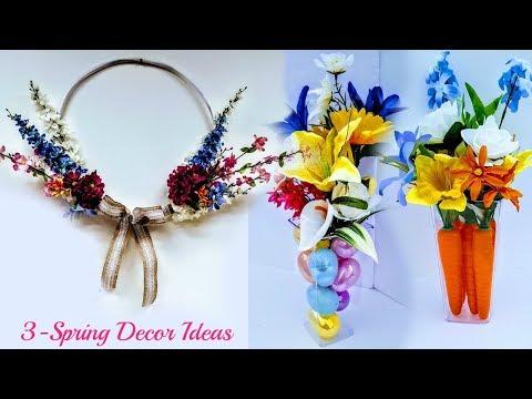 DIY Dollar Tree 3 Spring Decor Ideas EASY, FAST & Beautiful  / Spring Wreath