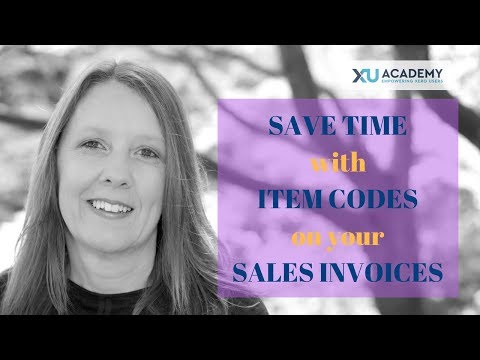 How to use Item Codes in your Xero Sales Invoices