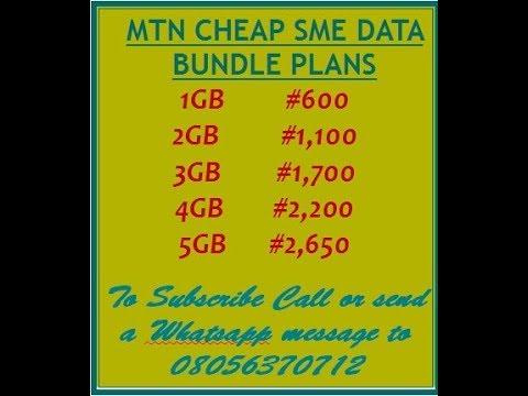 MTN SME CHEAP DATA BUNDLE PLAN